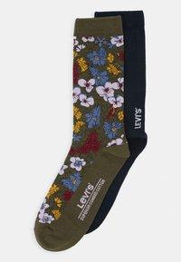Levi's® - REGULAR CUT PECTOLITE FLOWER 2 PACK - Socks - khaki - 0