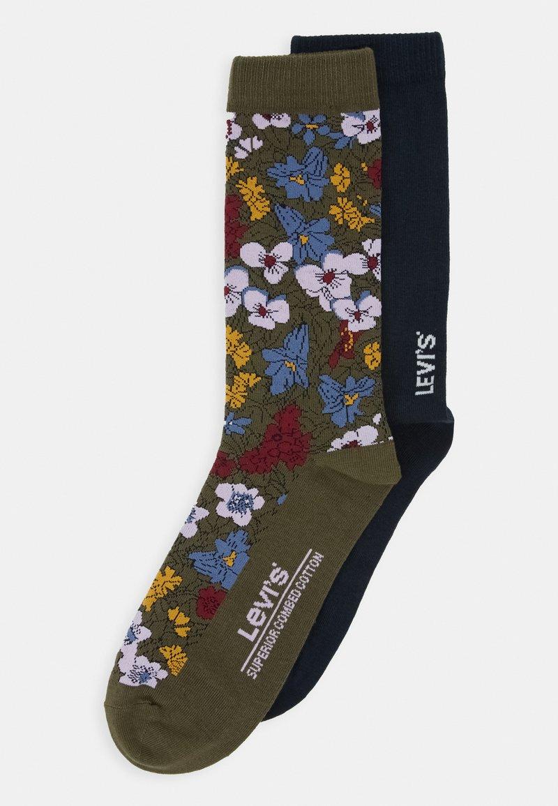 Levi's® - REGULAR CUT PECTOLITE FLOWER 2 PACK - Socks - khaki