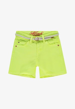 Denim shorts - light neon yellow