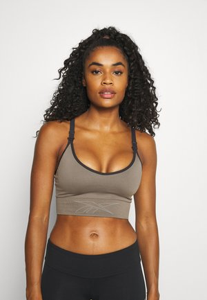 MATERNITY BRA - Medium support sports bra - trek grey