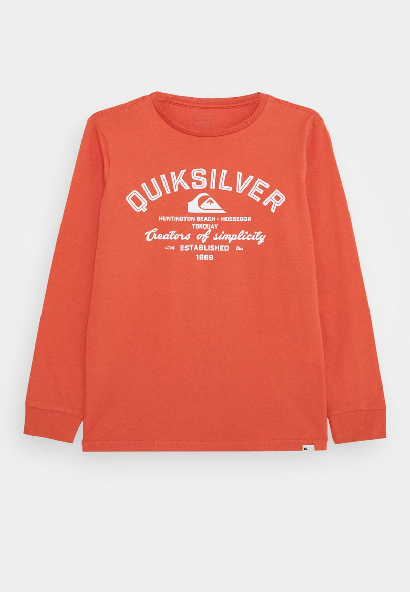 Quiksilver - SCREEN TEE - Long sleeved top - chili