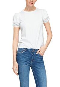 QS by s.Oliver - MIT PUFFÄRMELN - Print T-shirt - white - 3