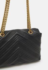 Pinko - LOGO CLASSIC PUFF JEWEL - Handbag - black - 4