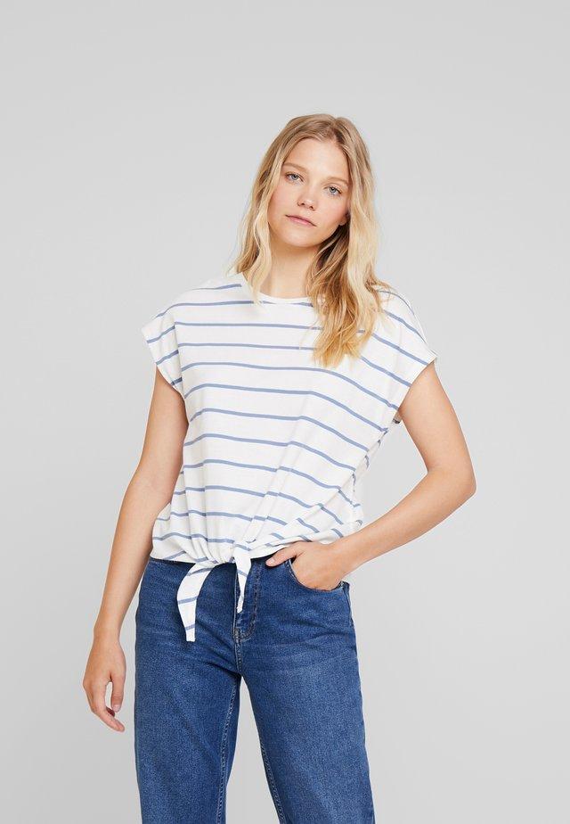 Print T-shirt - off-white/blue