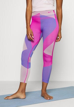 SEAMLESS SCULPT 7/8 - Leggings - fire pink/sapphire