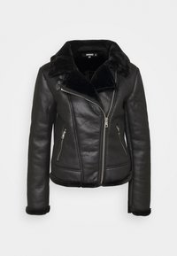 Missguided - AVIATOR - Faux leather jacket - black - 3