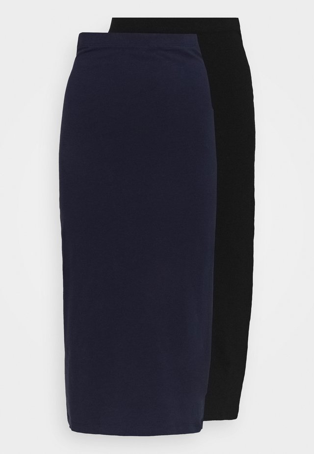 2 PACK - Blyantnederdel / pencil skirts - black/dark blue