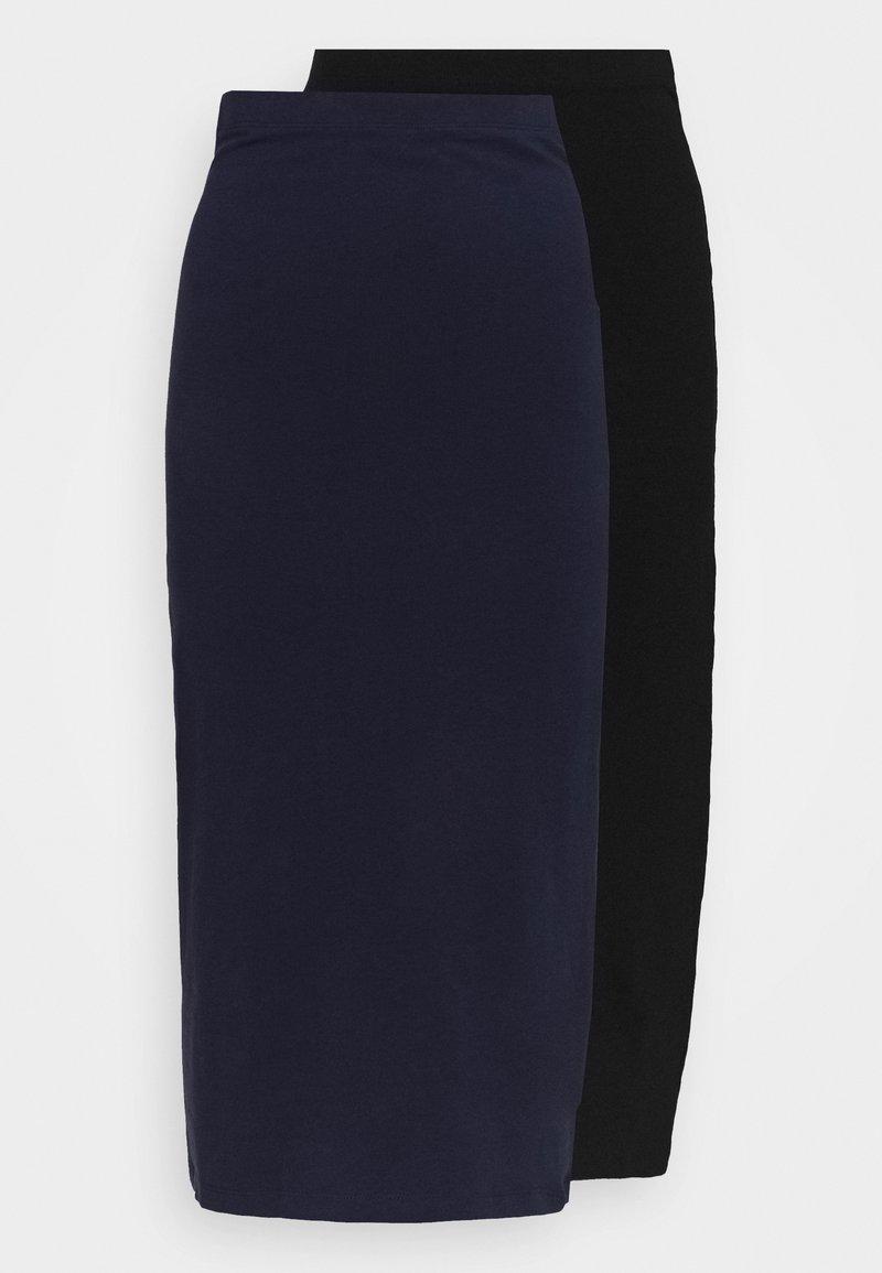 Even&Odd - 2 PACK - Pencil skirt - black/dark blue