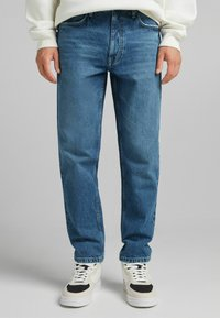 Bershka - STRAIGHT VINTAGE - Relaxed fit jeans - dark blue - 0