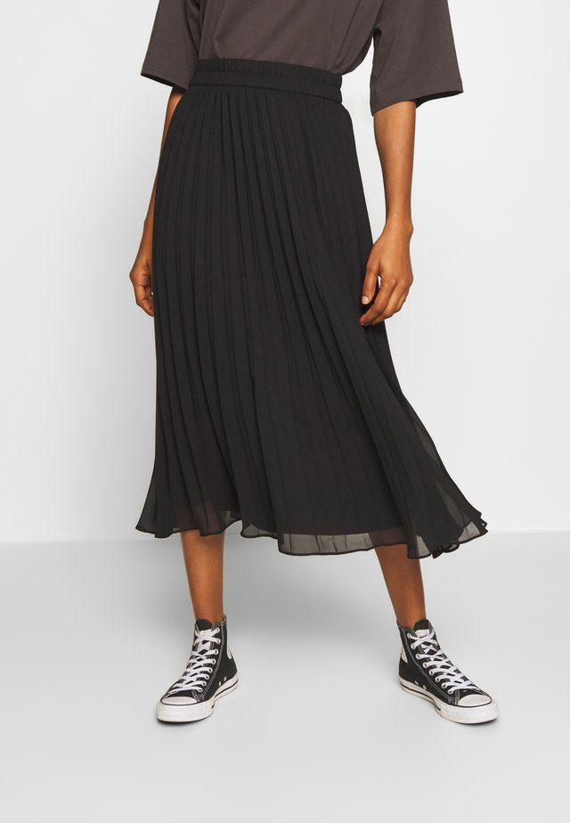 LAURA PLISSÉ SKIRT - Vekkihame - black