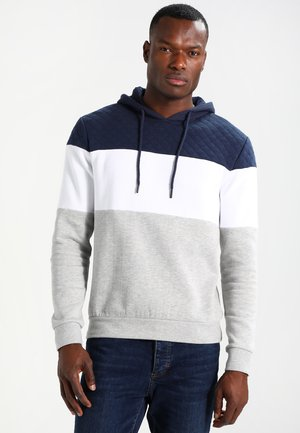 Sweat à capuche - light grey/dark blue