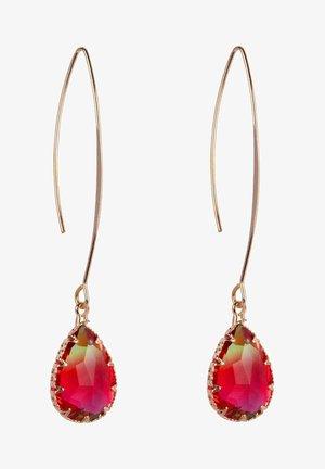 Earrings - rood groen