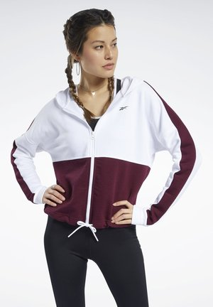 TRAINING ESSENTIALS LOGO HOODIE - Zip-up hoodie - white