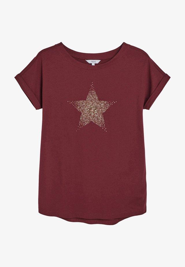 GRAPHIC CURVED  - T-shirt imprimé - berry