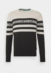 Guess - LOGO STRIPED - Jumper - grey