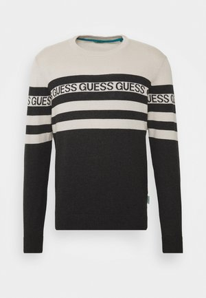 LOGO STRIPED - Sweter - grey