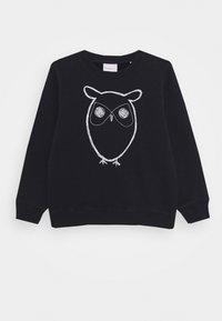KnowledgeCotton Apparel - LOTUS OWL - Mikina - dark blue - 0