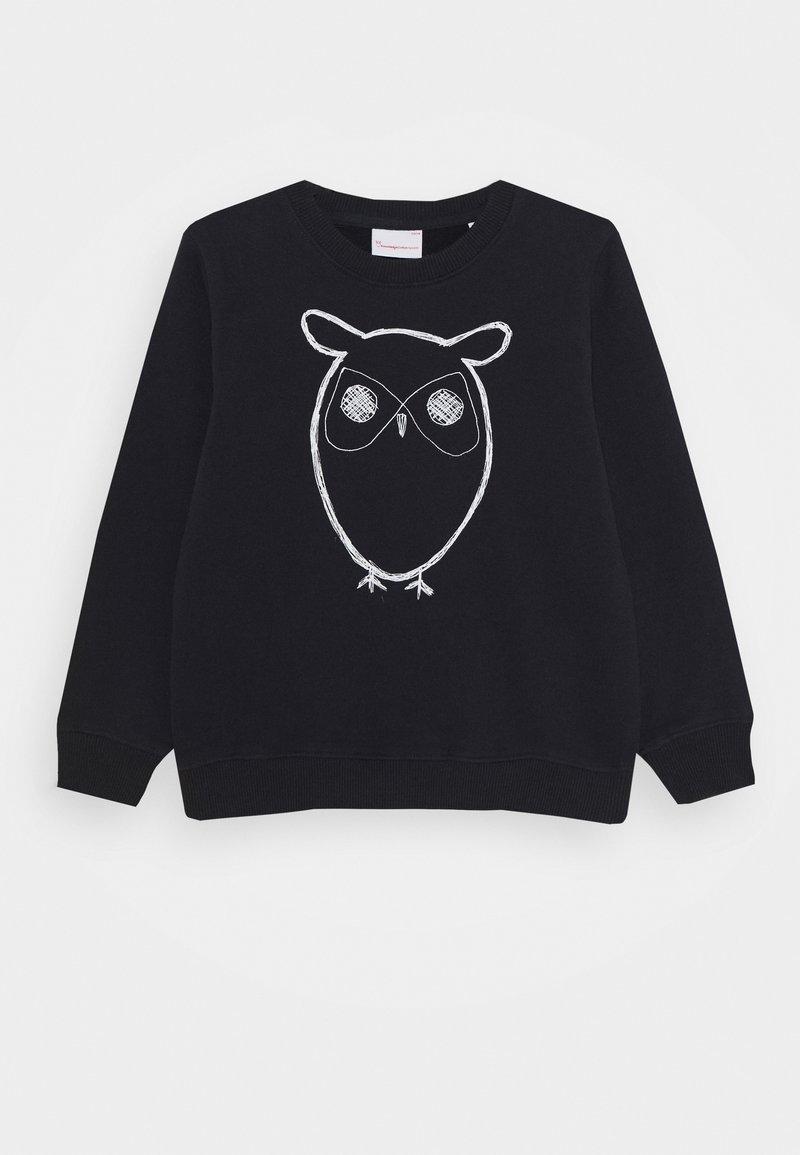 KnowledgeCotton Apparel - LOTUS OWL - Mikina - dark blue