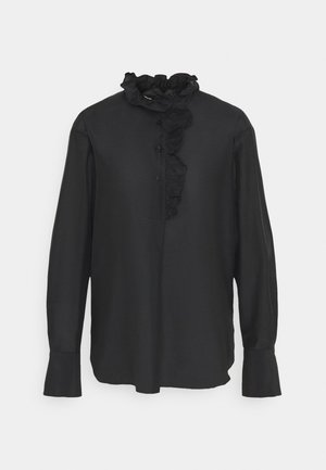 FRILLO NEW BLOUSE - Button-down blouse - black