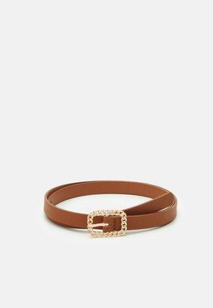 Belt - cognac/gold-coloured