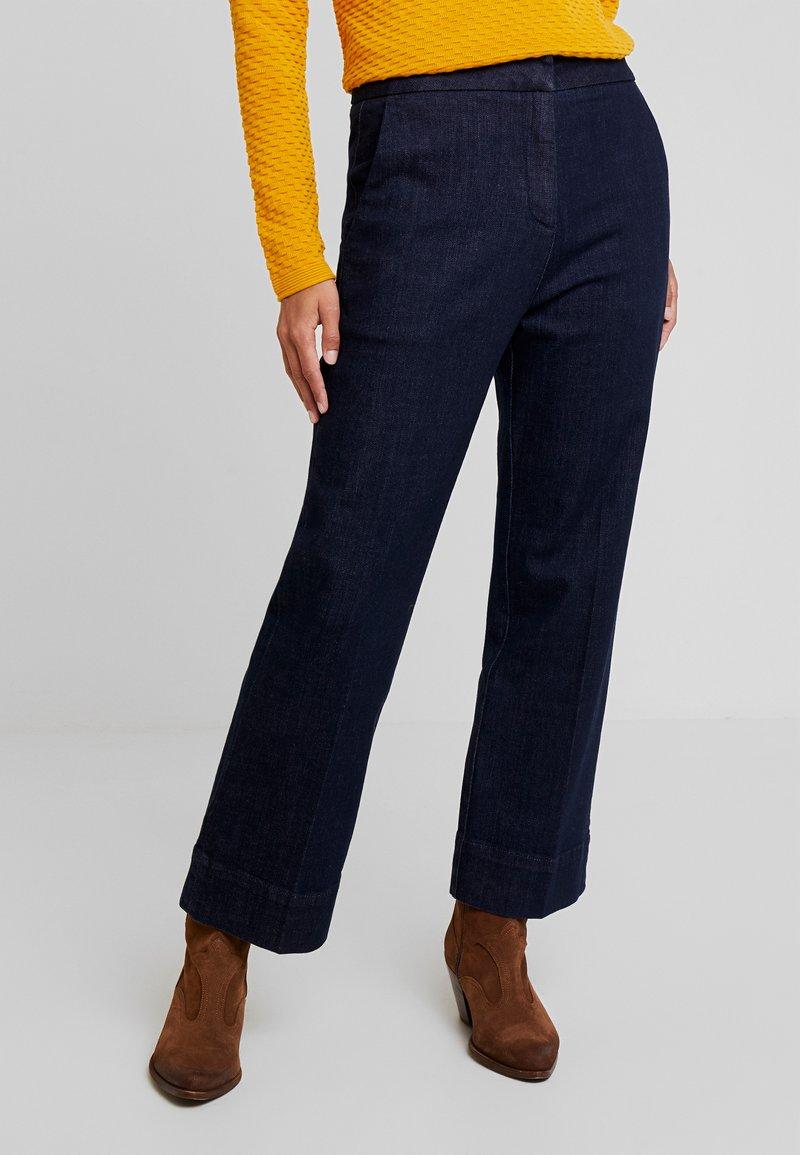 Opus - MILA - Flared jeans - deep rinsed blue