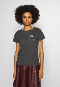 J.CREW - CLINK CHAMPAGNE TEE - T-shirts med print - heather carbon - 0