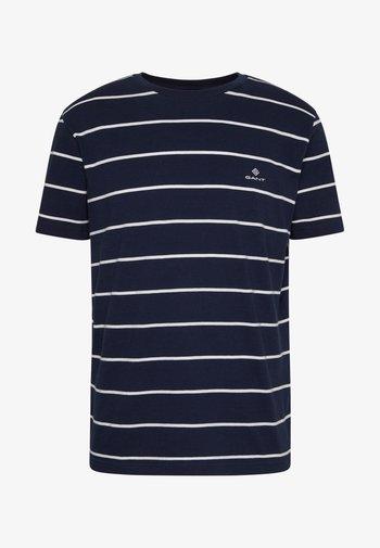 BRETON STRIPE - T-shirt med print - evening blue