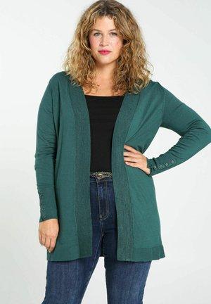 LONG OUVERT - Vest - green bottle