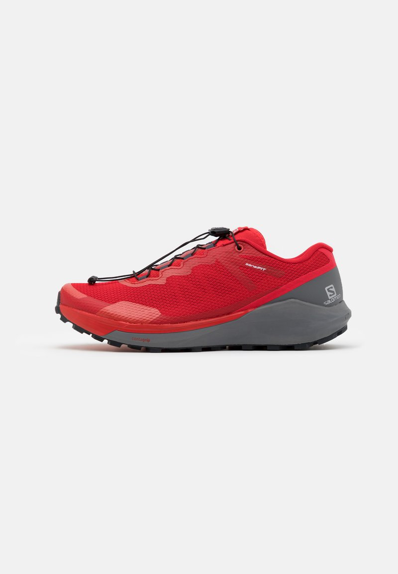 Salomon - SENSE RIDE 3 - Zapatillas de trail running - goji berry/lunar rock/red orange