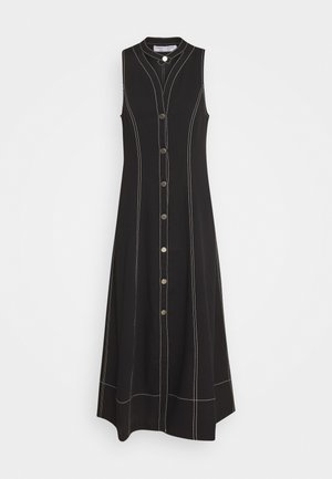RUMPLED BUTTON FRONT DRESS - Robe chemise - black