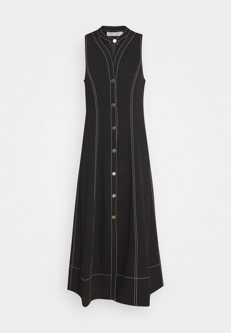 Proenza Schouler White Label - RUMPLED BUTTON FRONT DRESS - Košilové šaty - black