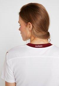 Puma - SCHWEIZ SFV AWAY JERSEY - Club wear - white/pomegranate - 4