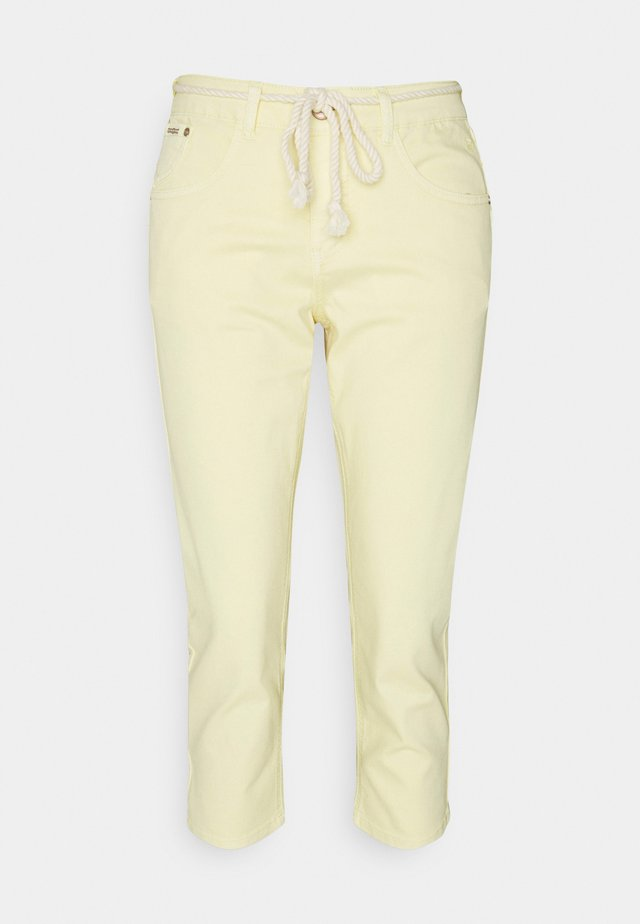 CRVAVA PANT COCO FIT - Spodnie materiałowe - yellow delight