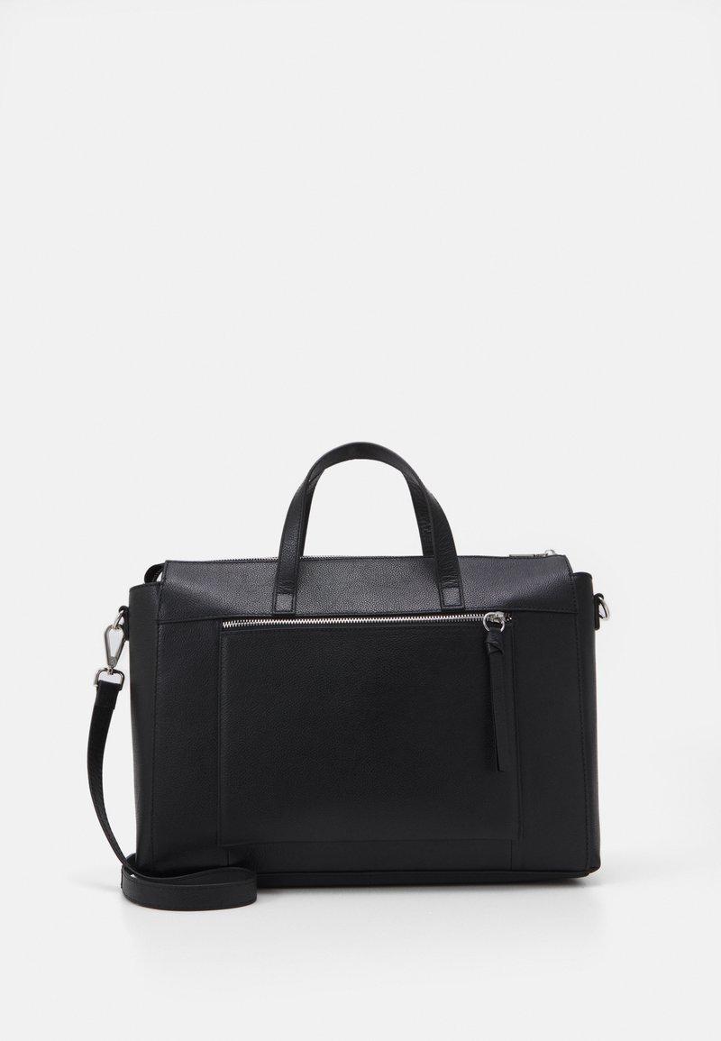 Zign - LEATHER - Laptop bag - black