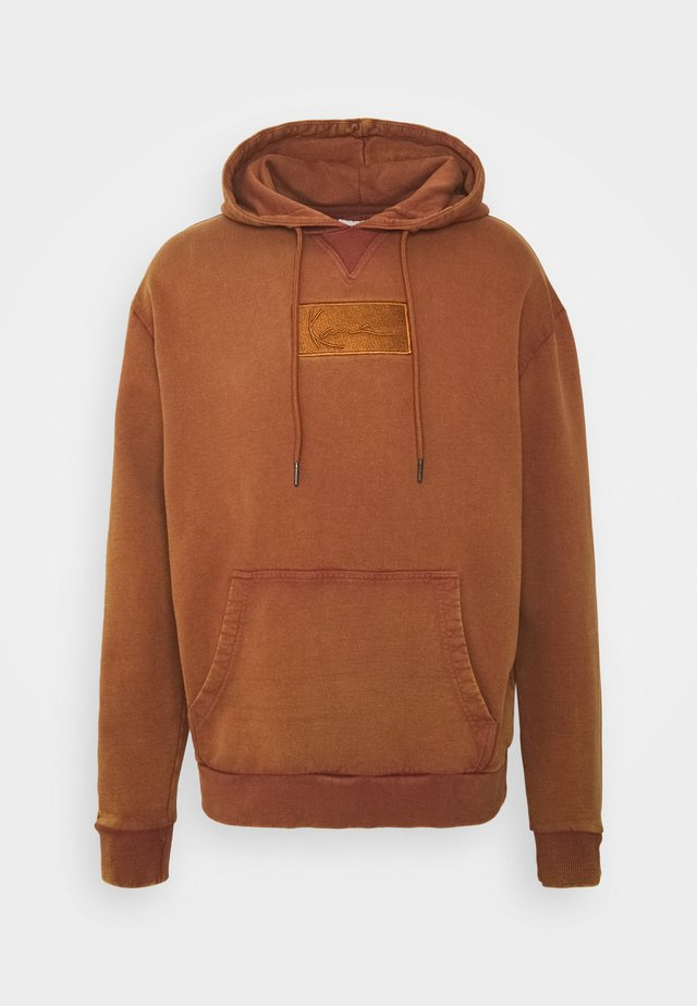 SMALL SIGNATURE BOX WASHED HOODIE UNISEX - Sweatshirt - dark orange