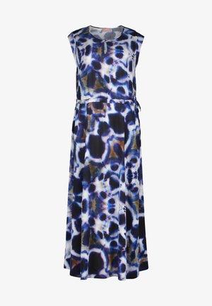SOMMERKLEID MIT MUSTER - Maxi dress - weiß dunkelblau