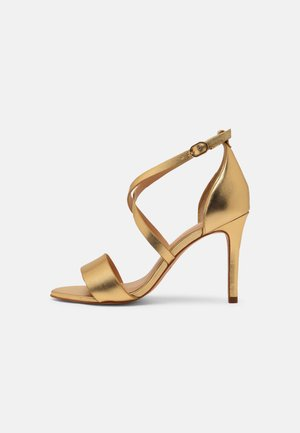 VEGAN ZEANA - Sandály na vysokém podpatku - or