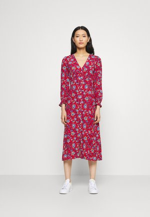 MIDI FLOR INDIA - Day dress - red/coral