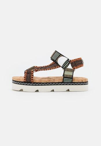 Platform sandals - papeete/multicolor