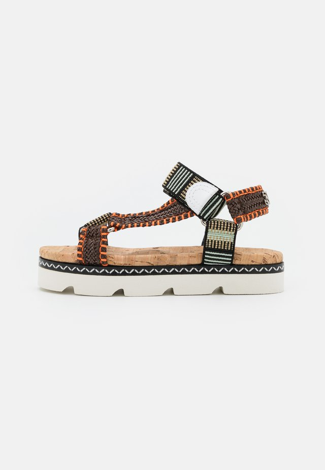 Sandalen met plateauzool - papeete/multicolor