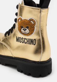MOSCHINO - Lace-up ankle boots - gold - 5