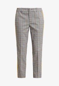 TOM TAILOR DENIM - CIGARETTE PANTS - Pantalon classique - grey/yellow - 5