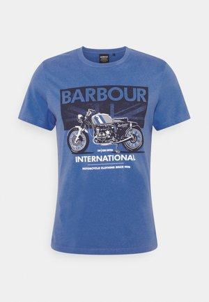 GREENWOOD TEE - Print T-shirt - pure blue
