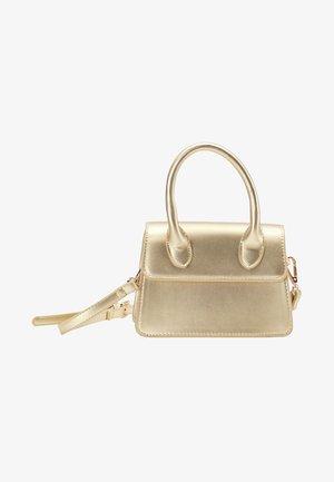 Handbag - gold metallic