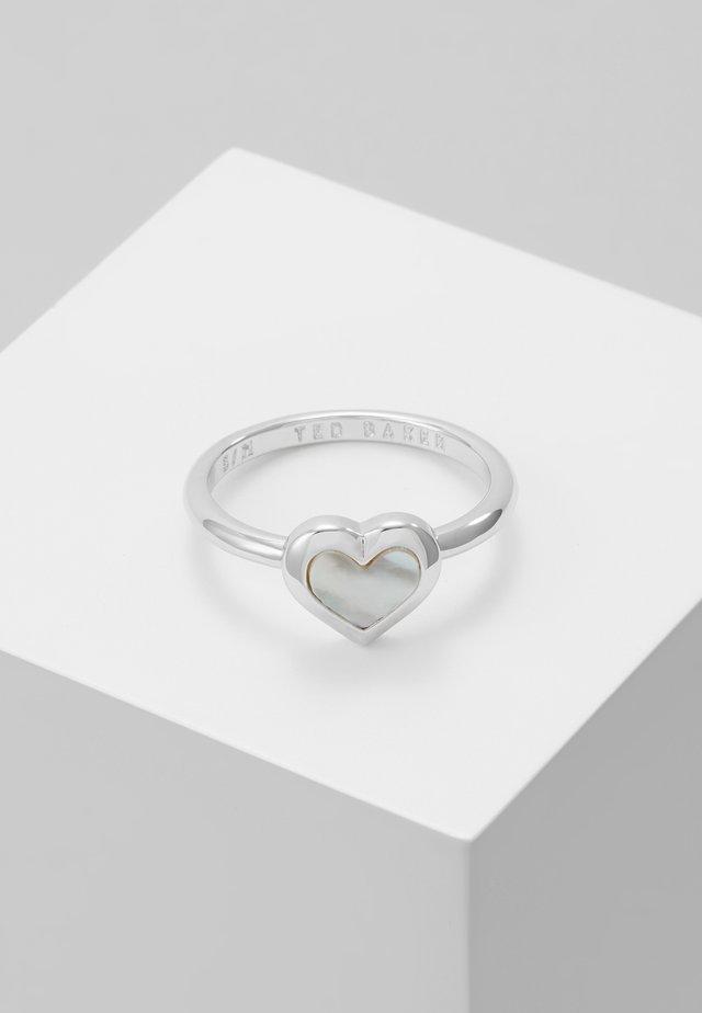 HANLET HEART RING - Anillo - silver-coloured
