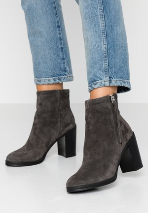 BRIDGE - High heeled ankle boots - anthracite