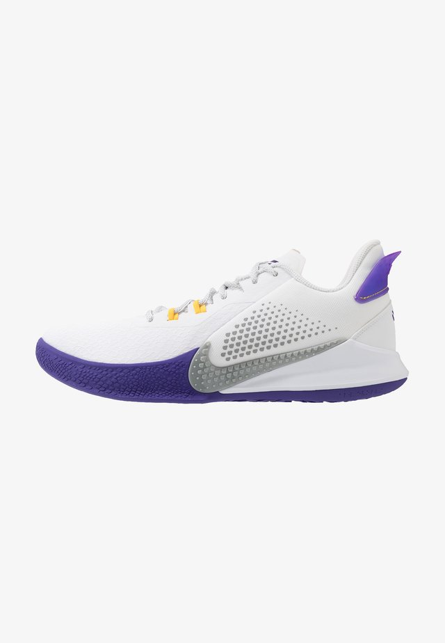 MAMBA FURY - Scarpe da basket - white/light smoke grey/field purple/amarillo