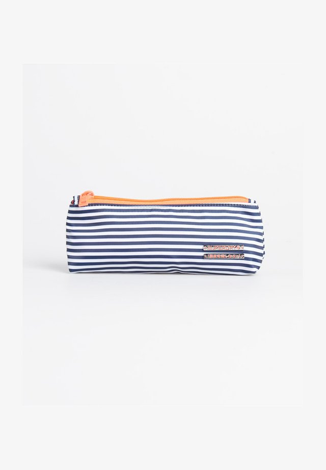 Handbag - navy thin stripe