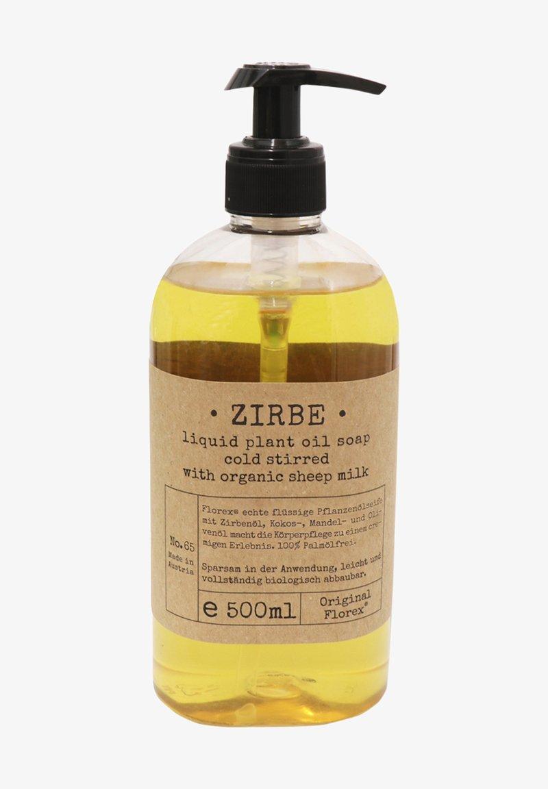 Florex - ECHTE FLÜSSIGE PFLANZENÖLSEIFE ZIRBE MIT BIO SCHAFMILCH 500 ML - Liquid soap - -