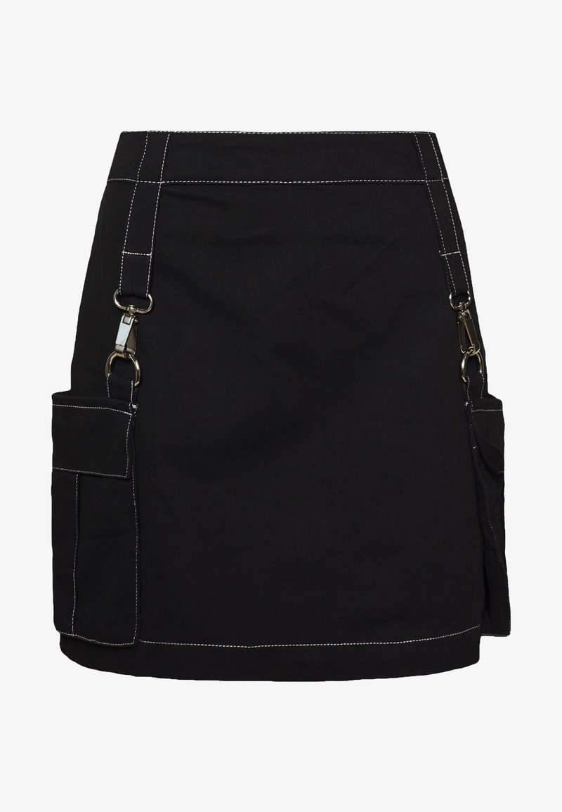The Ragged Priest - MINI SKIRT WITH TRIGGERS - Minifalda - black